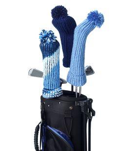 Yarnspirations.com - Bernat Golf Club Covers - Patterns  | Yarnspirations