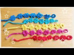 切らずに続けて編むお花の編み方(^^♪ - YouTube
