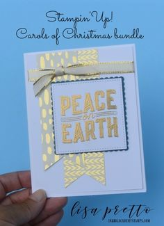Stampin'Up! Carols of Chritmas bundle, sneak peek, christmas in july, peace on earth, gold heat embossing, DIY, papercrafting, holiday card