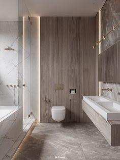BAILEYS on Behance Warm Color Schemes, Warm Colors, Laundry In Bathroom, Master Bathroom, Large Wardrobes, Classic Bathroom, Bathroom Design Small, Bathroom Ideas, Furniture Layout