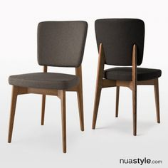 Escudo Chair by Connubia - Walnut Wood & Berna Taupe Fabric