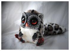 eyelashes=pom poms?  Tiny Royal Spotty by ~Santani on deviantART