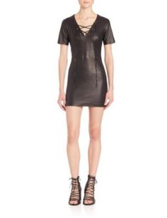 amber-lace-up-leather-dress by theperfext. #fashiontrend #dresses #outfit #gorgeous #shoptagr