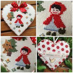Little Red Ridding Hood, Red Riding Hood, Cross Stitch Finishing, Cross Stitch Embroidery, Needlepoint, Maya, Hobbit, Needlework, Fairy Tales