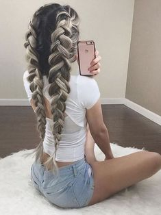 Cool And Must-Have Summer Hairstyles For Women; Must-Have Summer Hairstyles; Summer Hairstyles For Women; Box Braids Hairstyles, Pretty Hairstyles, Hairstyle Ideas, Winter Hairstyles, Hair Ideas, Teenage Hairstyles, Best Hairstyles, Short Summer Hairstyles, Braided Hairstyles For Long Hair