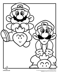 pagees to coloring pages | free printable mario coloring pages for ... - Super Mario Luigi Coloring Pages