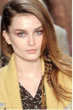 Side part with braids