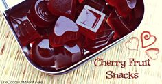 These homemade gummy cherry fruit snacks were made with cherry juice, grass-fed gelatin and is sweetened with raw honey.