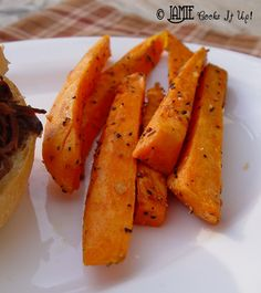 Jamie Cooks It Up!: Baked Sweet Potato Fries