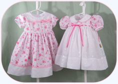 Pink and White Eyelet Lace Baby Girl Toddler Girl by BebeClassique, $54.00