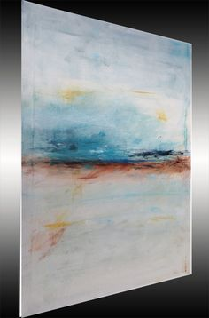 Large Abstract Painting Minimalist Art Landscape Shabby Chic Style Original Painting on Canvas Blue Painting Wall Decorations Art DAY. $225.00, via Etsy.