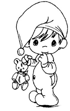 Baby And Teddy Bear Coloring Pages - Baby Coloring Pages : KidsDrawing – Free Coloring Pages Online