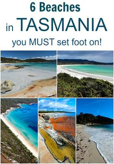 6 Beaches in Tasmania, Australia you must set foot on! It is for my next vacation time. Oh The Places You'll Go, Places To Travel, Travel Destinations, Places To Visit, Travel Tips, Travel Deals, Travel Guides, Travel Photos, Tasmania Road Trip