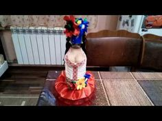 (115) Декор бутилки в народном стиле с грудью - YouTube Gift Packaging, Graduation Gifts, Homemade Gifts, Craft Gifts, Glass Bottles, Ideas Para, Sims, Projects To Try, Dress Up