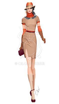 Fashion illustration: elegant city look by *Ollustrator on deviantART