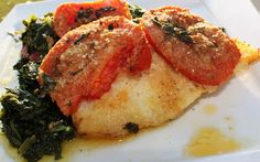 What's Cookin' Italian Style Cuisine: Baked Haddock with Spinach and Tomatoes Recipe