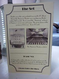 DIY Programs for our Vintage Movie Themed Wedding :  wedding program theater movie black ivory diy ProgramBack