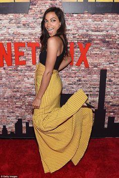 Rosario Dawson wows in flamenco skirt at Marvel's Luke Cage premiere Flamenco Skirt, Josie And The Pussycats, Luke Cage, Rosario Dawson, Teresa Palmer, Fashion Marketing, Celebs, Celebrities, Hottest Photos