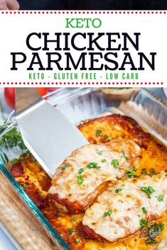 This recipe is so good. It may be one of the best ways to make chicken. With tomato sauce and cheese, this chicken is yummy and delicious. It's so easy, perfect for a busy evening's supper. Lunch Recipes, Low Carb Recipes, Breakfast Recipes, Dinner Recipes, Protein Recipes, Diet Breakfast, Turkey Recipes, Breakfast Ideas, Free Recipes
