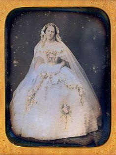 Daguerreotype of a bride.