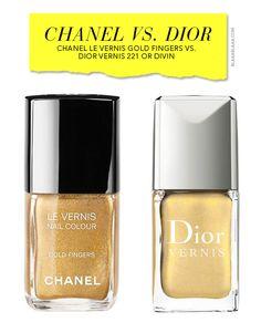 Chanel Le Vernis Gold Fingers vs. Dior Vernis 221 Or Divin