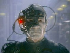 A borg-assimilated Captain Picard from episode Q Who?