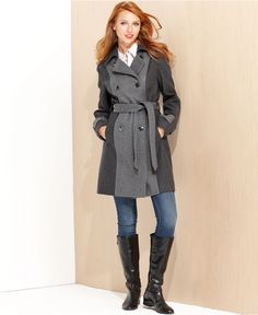 My new coat!!! Love it. :)    Kenneth Cole Reaction Coat, Colorblock Wool-Blend Trench - Womens Bold Coats - Macy's
