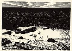 """Illustration for Melville's """"Moby Dick"""" by Rockwell Kent on Curiator, the world's biggest collaborative art collection. Rockwell Kent, Norman Rockwell, Art And Illustration, Schmidt, Melville Moby Dick, Digital Museum, Scratchboard, Collaborative Art, Wood Engraving"""