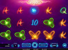 Prüfe unsere Neusten online kostenlos Spielautomaten Spiel Sparks - http://freeslots77.com/de/sparks/