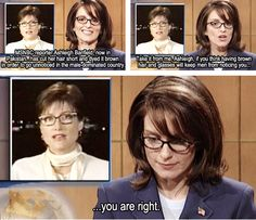 Oh gotta love Tina always speaking the truth, even when it stings.