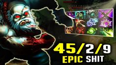 WTF Carry Pudge 45/2/9 Kills and 9 slotted. Epic Carry Pudge Dota 2 Mind...