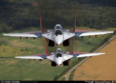 Strizi Aerobatic Team MiG-29UBs Fulcrum