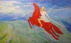"""Saatchi Art Artist Svetà Art; Painting, """"Au dessus des nuages"""" #art"""