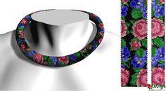 Схемы: Схема жгута Розы с фиалками уменьшенная