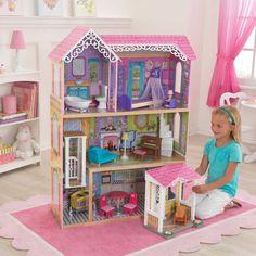 Girls KidKraft Pretty and Sweet Dollhouse Playhouse Cottage Mansion Fun Wooden   #Kidkraft #CottageMansion