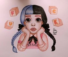"""2,032 Likes, 46 Comments - Anna (@blueland.ann) on Instagram: """"✨They call you crybaby✨ #melaniemartinezart #melaniemartinezfanart #melaniemartinez…"""""""