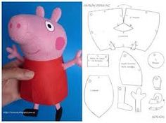 DIY Peppa Pig Softie - FREE Pattern / Template