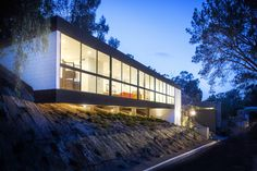 Embedded in a steep slope in a suburban neighborhood, the Clea House resembles nothing less than a beacon from the future. Architect Soheil Nakhshab's company purchased a vacant lot in Mission Hill in 2014 for $312,500, then designed the sleek 3,820-square-foot home that subsequently earned LEED Platinum certification, thanks in part to a robust solar array. Peruse photos of the six-bed, five-bath home here. Interested buyers can contact Susana Mora at Coldwell Banker for more information…