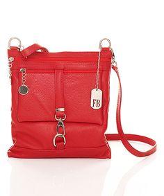 d98f61550998 Red Leather Crossbody Bag  zulilyfinds Budget Fashion