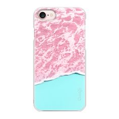 Pink ocean - iPhone 7 Case And Cover ($29) ❤ liked on Polyvore featuring accessories, tech accessories, iphone case, pink iphone case, iphone cases, apple iphone case, iphone cover case and slim iphone case