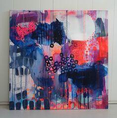 Et farverigt maleri med masser af farver.