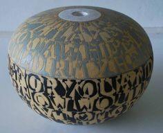 I love this lettered vase from Bo Kristiansen