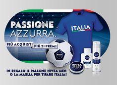 #Concorso #Nivea Passione Azzurra: palloni e magliette in #omaggio dell'#Italia