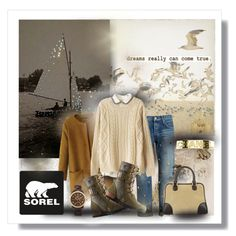 A fashion look from September 2015 featuring Chicnova Fashion sweaters, Tu Es Mon Trésor jeans and SOREL shoes. Browse and shop related looks.
