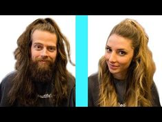 Husband Tries Wife's Hairstyles - YouTube