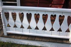 porch rail of stuga