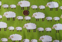 Locally Grown Sheep Fabric   Fat Quarter  18 x by Sheepinspiration