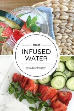 Fruit Infused Waters can help stay hydrated and nourished. Win, win!