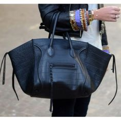 best-designer-bag-for-work-celine-black-luggage-phantom