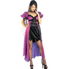 Déguisement Gothique Spider Widow Femme, Déguisement Vampiresse adulte, bal des Vampires, Costume Halloween, gothique, fêtes.